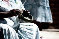 Tarahumara village woman basket weaving