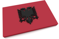 3D Albania Flag Button