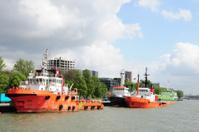Boats in Rotterdam