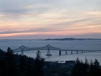 Columbia River Bridge at Astoria Oregon in the Evening