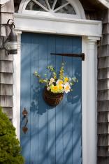 Blue Door with Spring Basket