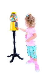 Girl with gumball machine series