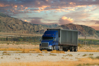 semi truck scenic