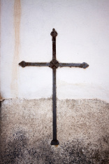 Old rusty cross from Italy
