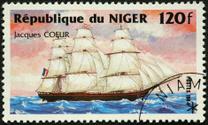 vintage ship Jacques Coeur