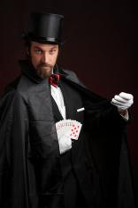 Magician Performing Card Tricks