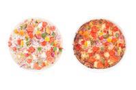 Frozen vs. hot pizza