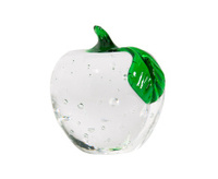 Clear Glass Apple