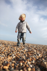child running beach freedom