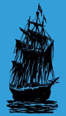 Pirate Ship Spooky Silhouette