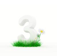 Huge digit on a grass