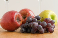 Apples, Grapes, Glass Stems
