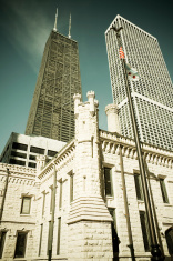 Chicago Buildings-John Hancock and Water Tower