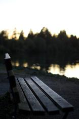Park Bench Sunset
