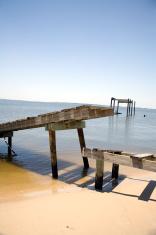 Old pier on the beach