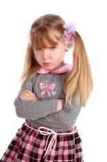 little girl taking great grumpy