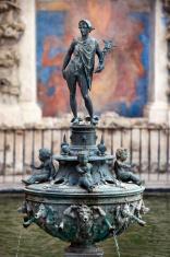 Fountain in Alcazar Gardens Seville Spain