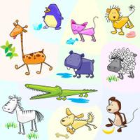Collection of cartoon animals