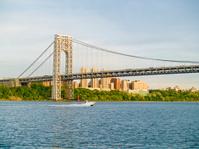 George Washington Bridge and Boat