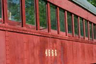 Old passenger train car