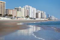 Daytona Beach Shores Florida Coastline Condominiums cast Reflect