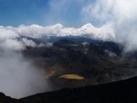 View from Mount Ngauruhoe to Ruapehu and Tongariro Alpine Crossi