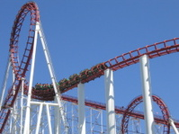 Roller coaster with loop