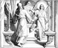 Angel Gabriel and Zechariah