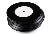 Vintage Vinyl Record on A Turntable Strobe Stock Photos