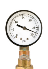pressure gauge - for low psi