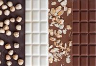 Close up of high quality handmade chocolate bars