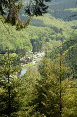 Belgium, campsite near La Roche.