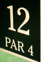 Hole  12th, Par 4 - Course sign