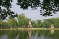 Lakeside Temple in Sukhothai Historical Park, Thailand.
