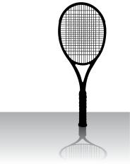 Tennis Racket - Sports Equipment Silhouette