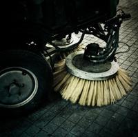 street sweeper truck detail