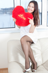 Asian sexy beauty- Heart and lingerie