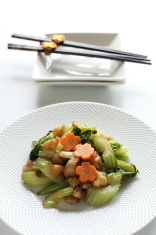 Celery and Chicken Stir-fried dishes