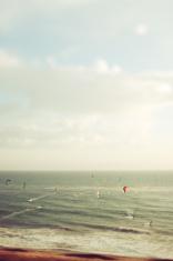 California Tilt Shifted Kite SUrfers