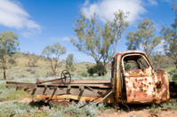Old wrecked truck in Outback Australia