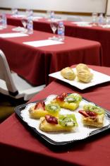 Appetizers in board room