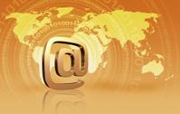 e-mail symbol and binary code