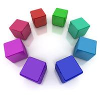 Colourful cubes circle