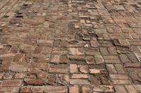 Old brick pavement background