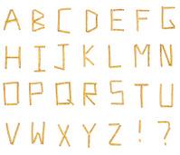 Pretzel Alphabet (XXXL)