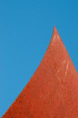 Sail shaped rusted sheet metal