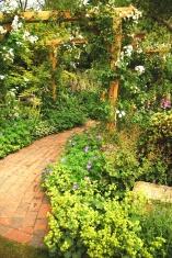 Romantic entrance to the garden