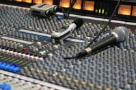 Close up of mixing desk controls