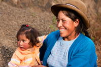 Peruvian woman weaving near Pisac, The Sacred Valley