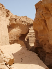 Limestone canyon in Sinai Peninsula